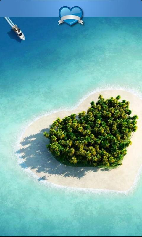 爱心岛屿高清壁纸