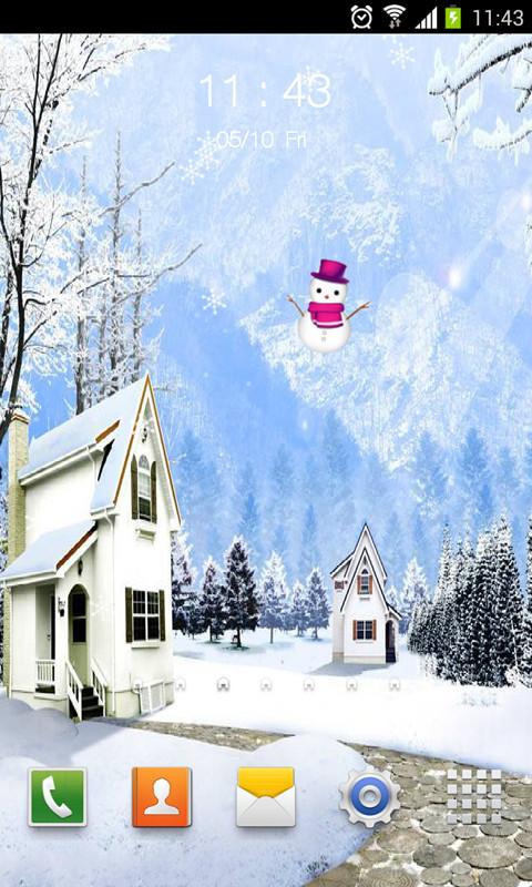 雪景動態壁紙鎖屏