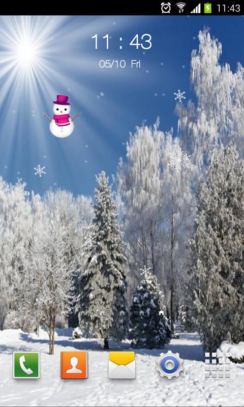雪景动态壁纸锁屏-动态壁纸-安卓android手机软件下载