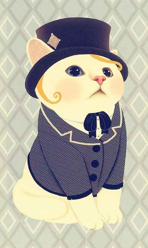 甜蜜猫可爱萌宠主题锁屏壁纸