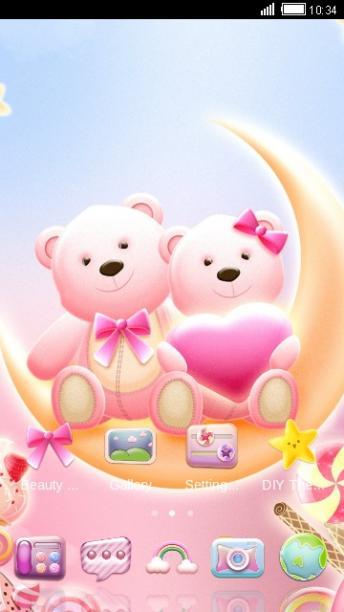 可爱小熊手机主题——畅游桌面