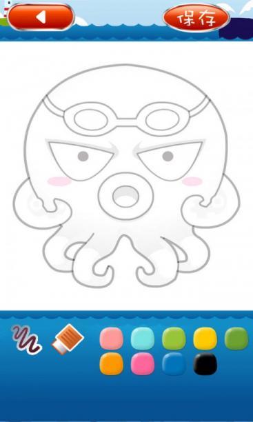 少儿海洋简笔画-益智休闲-安卓android手机游戏下载-藤椅休闲椅儿童